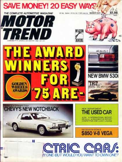 Motor Trend - March 1975