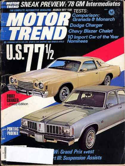 Motor Trend - March 1977