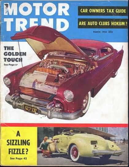 Motor Trend - March 1954
