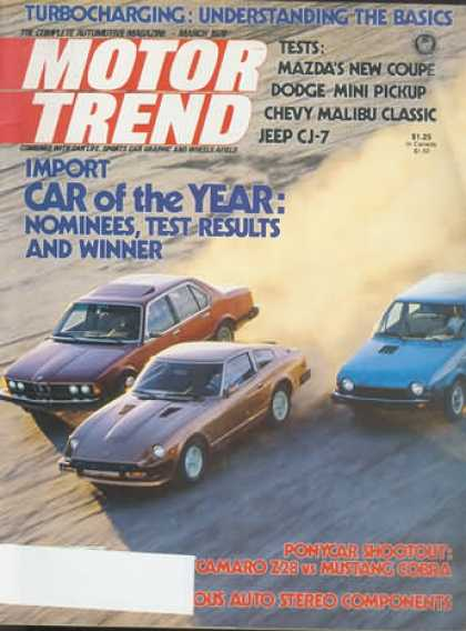 Motor Trend - March 1979