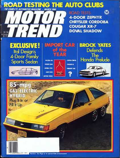 Motor Trend - March 1980