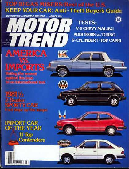 Motor Trend - March 1981