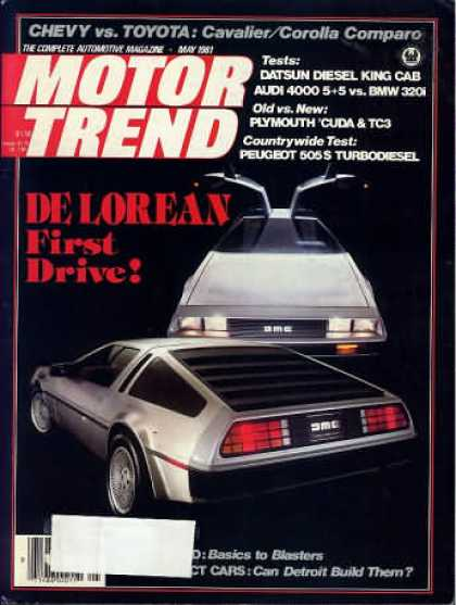 Motor Trend - May 1981