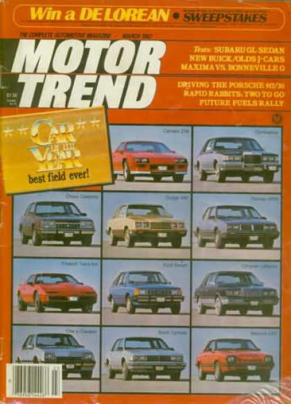 Motor Trend - March 1982