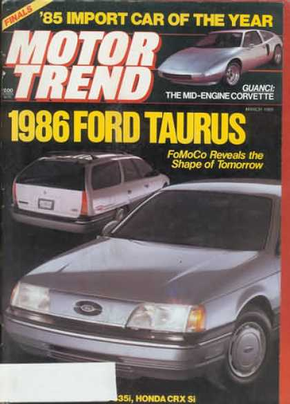 Motor Trend - March 1985