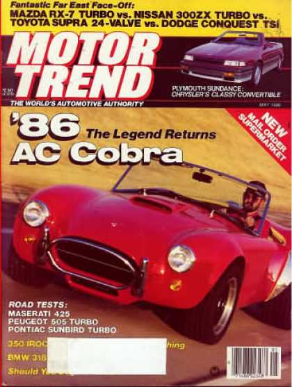 Motor Trend - May 1986