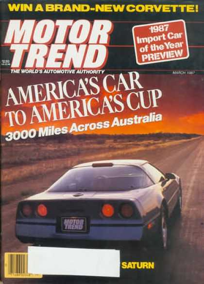 Motor Trend - March 1987