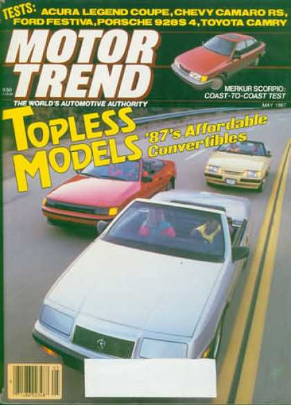 Motor Trend - May 1987
