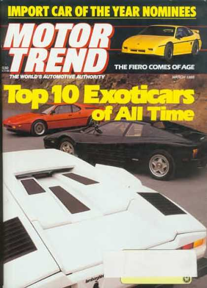 Motor Trend - March 1988