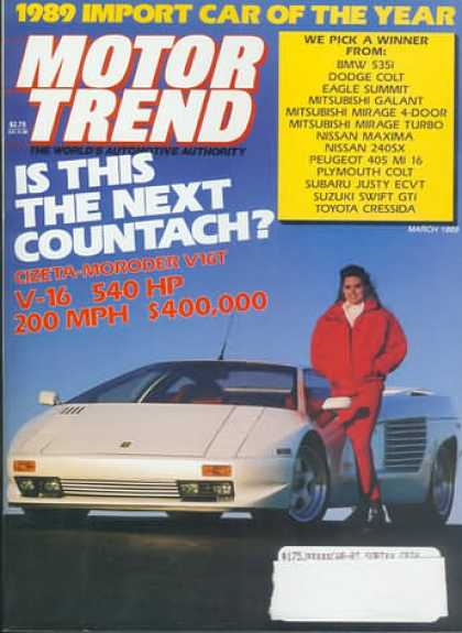 Motor Trend - March 1989