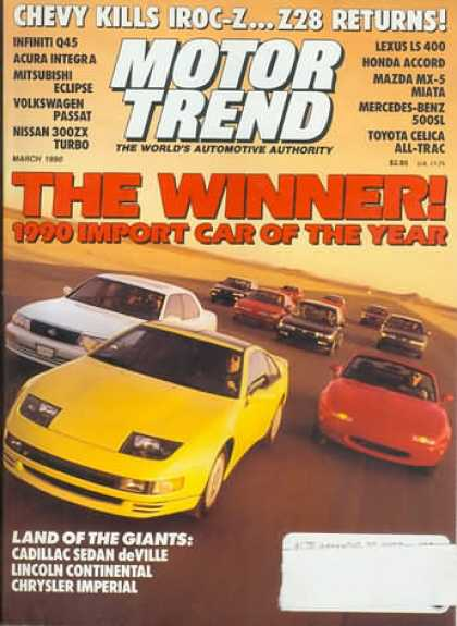Motor Trend - March 1990
