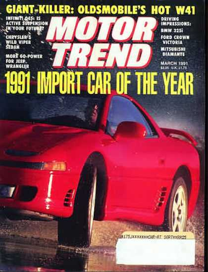 Motor Trend - March 1991