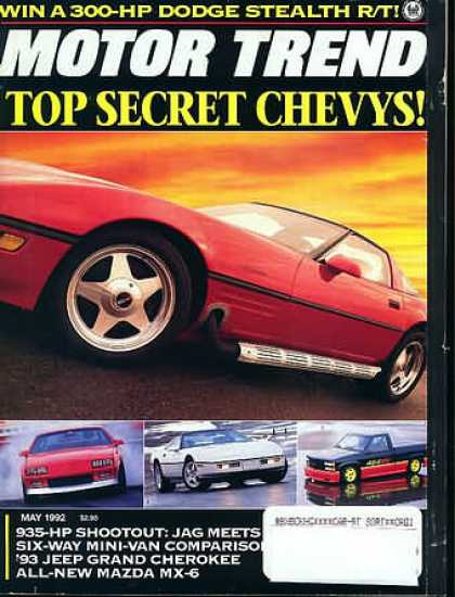 Motor Trend - May 1992