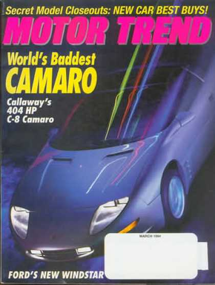 Motor Trend - March 1994