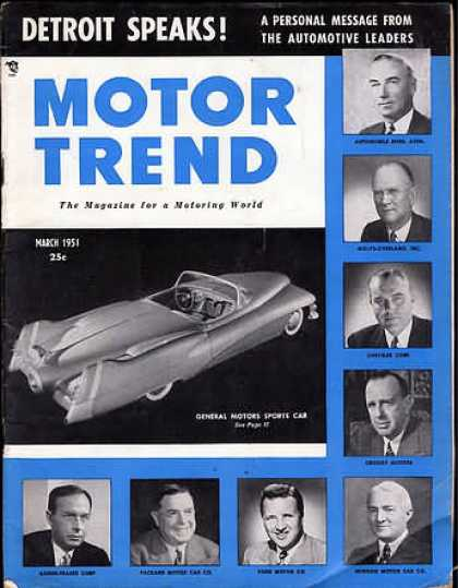 Motor Trend - March 1951