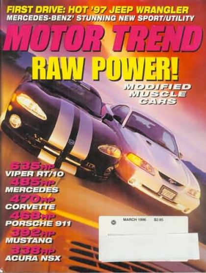 Motor Trend - March 1996
