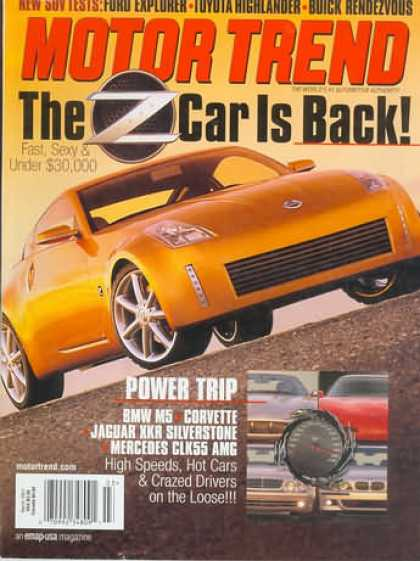 Motor Trend - March 2001