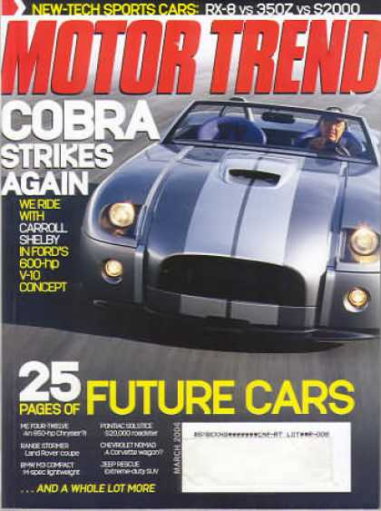 Motor Trend - March 2004