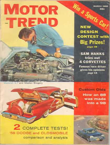 Motor Trend - March 1958