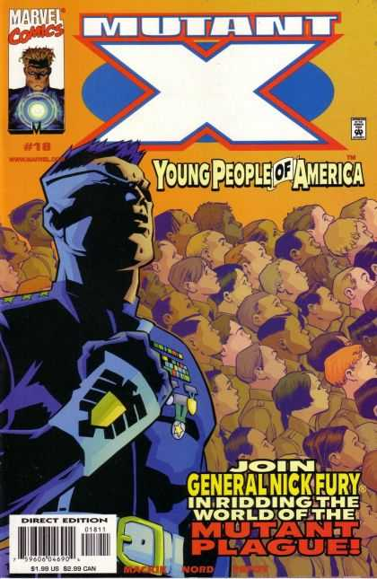 Mutant X 18 - Marvel Comics - Mutant X - Young People Of America - General Nick Fury - Mutant Plague