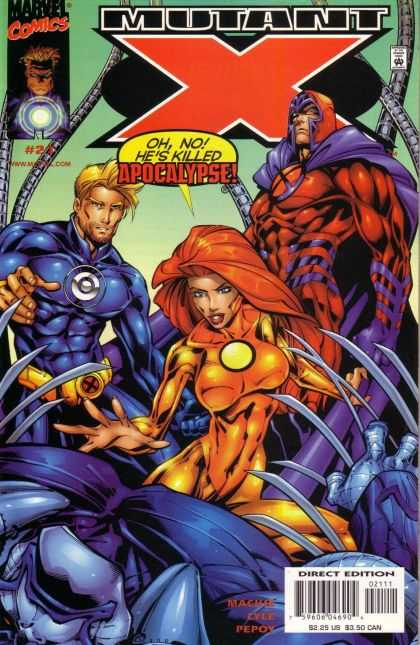 Mutant X 21 - Superheros - Claws - Apocalypse - Woman - Man