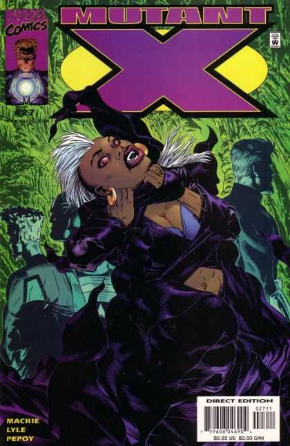 Mutant X 27 - Scary Fangs - White Mohawk - Black Female Monster - Unknown Enemy - Purple Lipstick - Michael Golden