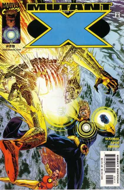 Mutant X 29 - Skeleton - Yellow Flash - Robot - Snow - Ribs - Michael Golden