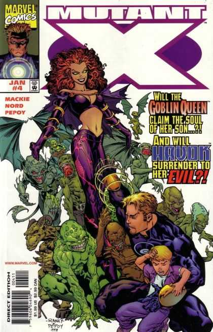 Mutant X 4 - Marvel Comics - Gambit - Goblin Queen - Havok - Mackie Nord Pepoy - Tom Raney