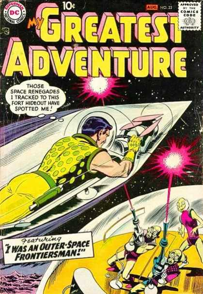 My Greatest Adventure 22 - Man - Rocket - Comics Code - Space - Aliens