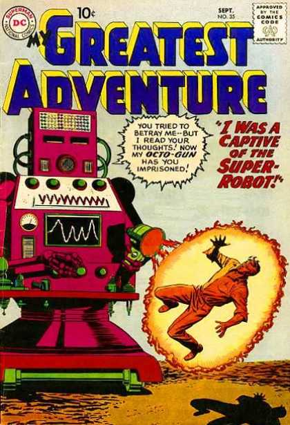 My Greatest Adventure 35 - Approved By The Comics Code - Superman - Robot - Man - Blast