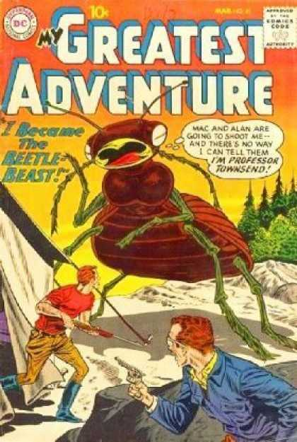 My Greatest Adventure 41 - Dc Comics - Beetle Beast - Professor Townsend - Science Fiction Comics - Adventure Comics