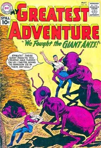 My Greatest Adventure 55 - Giant Ants - Staley - Ant Hill - We Fought The Giant Ants - Dc Comics