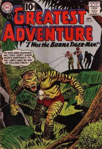 My Greatest Adventure 59 - I Was The Burma Tiger-man - Jungle - Trees - Guns - Dc