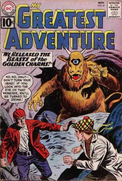 My Greatest Adventure 61 - Dc - Cyclops - Beasts Of He Golden Charms - Speech Bubble - 10 Cents