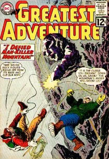 My Greatest Adventure 73 - I Defied Man-killer Mountain - Rock Figure - Mountain Climbers - Fall - Rope