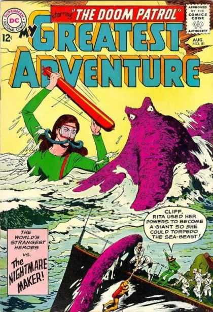 My Greatest Adventure 81 - The Doom Patrol - Sea-beast - Giant - Nightmare Maker - Worlds Strangest Heroes