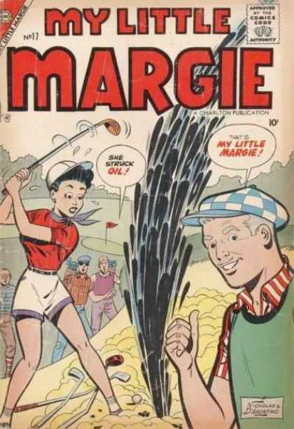 My Little Margie 17 - Man - Woman - Golf Course - Golf Club - Oil