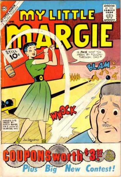 My Little Margie 35 - Bowling - Pins - Father - Alley - Coupons
