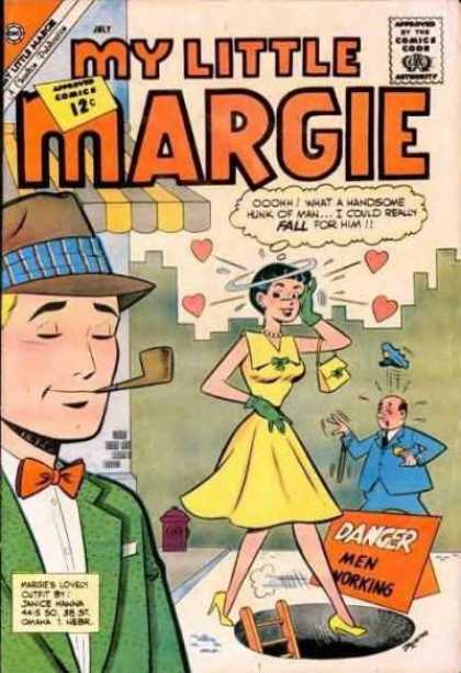 My Little Margie 42 - Yellow Dress - Green Gloves - Matching Purse - Police Officer - Pipe