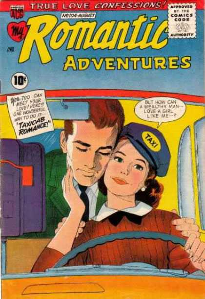 My Romantic Adventures 104 - Love - Taxi - Romance - Car - Rearview Mirror