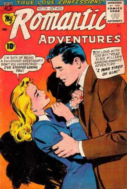 My Romantic Adventures 119 - True Love Confessions - I Was Tired Of Him - I Have Stoped Loving You - Brown Suit - Approved By The Comic Code