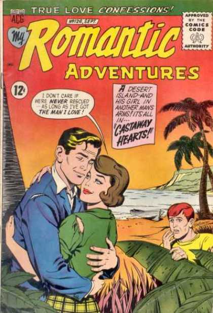 My Romantic Adventures 126 - Islan - Palm Tree - Blonde Man - Brunette Woman - Peeper