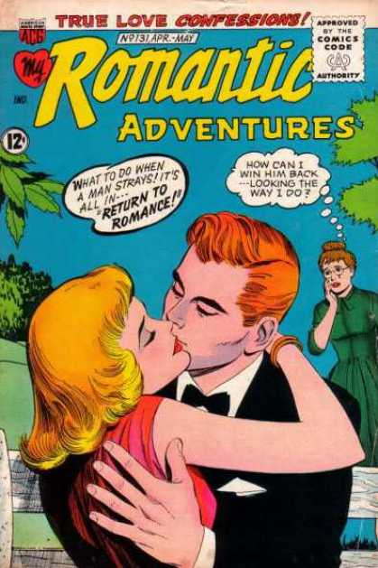 My Romantic Adventures 131 - Romance Comic - True Love - Confessions - Kiss - Embrace
