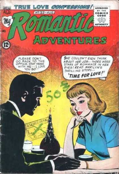 My Romantic Adventures 133 - True Love Confessions - Time For Love - Marilyn - Candlelight Dinner - Man And Woman