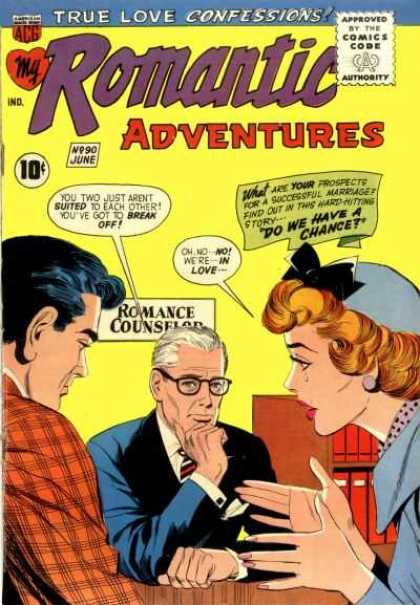 My Romantic Adventures 90 - Approved By The Comics Code - True Love Confessions - Woman - Man - Romance