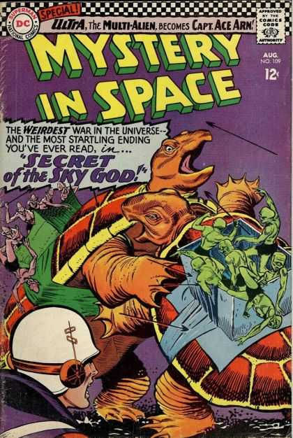 Mystery in Space 109 - Multi-alien - Turtles - Secret Of The Sky God - Captain Ace Arn - Weirdest War