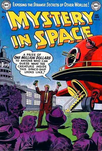 Mystery in Space 11 - Spaceship - Vintage - Contest - One Million Dollars - Alien Creature