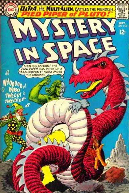 Mystery in Space 110 - Dc Comics - Pied Piper Of Pluto - Sea Serpent - September - Ultra The Multi Alien