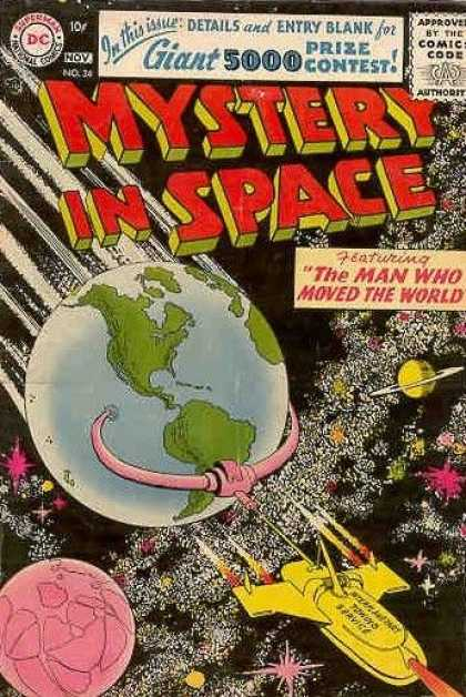 Mystery in Space 34 - Dc - Earth - The Man Who Moved The World - Saturn - Outer Space