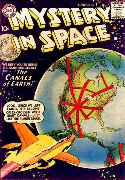 Mystery in Space 38 - Rocket - Earth - Moon - Canals - North America
